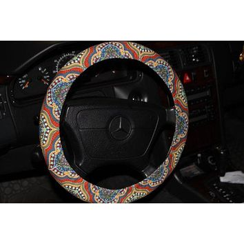 Steering Wheel Cover . Aztec Wheel Cover. Multicolor Wheel Cover . Women's Wheel Cover . Car Accessories .