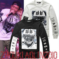 ☆★Hip-Hop HBA BEEN TRILL Graphic LA Black White Pyrex Street Sweatshirt Hoodie★☆