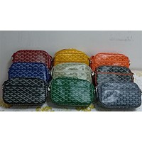 """Goyard""Simple Personality Fashion Multicolor Letter Print Purse Fold Wallet Clutch Bag Makeup Bag"