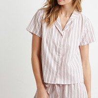 Striped Cotton Shirt PJ Set