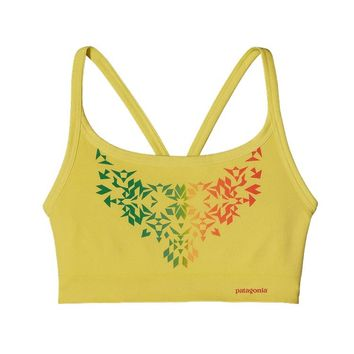 Patagonia Women's Active Mesh Sports Bra   Ombre Stencil: Pineapple