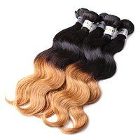 Ombre Color 1b/27# Two Tone Body Wave Peruvian Hair