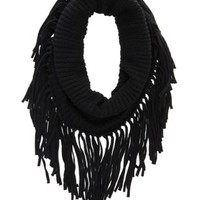 Chunky Fringe Cowl Scarf by Charlotte Russe