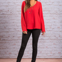 Forever Love Blouse, Red