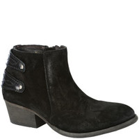 H BY HUDSON WOMEN'S ROSSE SUEDE ANKLE BOOTS - BLACK