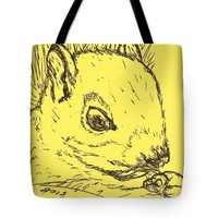 Yellow Squirrel Tote Bag