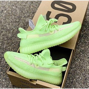 Adidas Yeezy Boost 350 V2 Glow Men's and Women's Sneakers Shoes