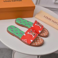 LV Louis Vuitton Women's Leather Sandals
