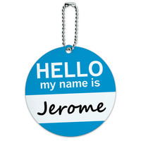 Jerome Hello My Name Is Round ID Card Luggage Tag