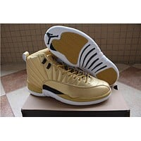 Air Jordan 12 Pinnacle ¡°Gold¡± Sport Shoe US7-13