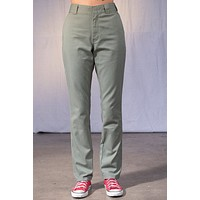 Olive Straight Leg Work Pant by Dickies Girl