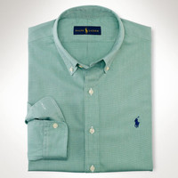 SOLID END-ON-END SPORT SHIRT