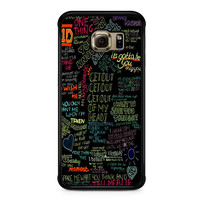 one direction song Samsung Galaxy S6 Edge Case