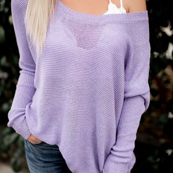 Slouchy Sweater (Violet)