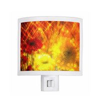 Night Light - Flowers, Light, Yellow, Red, Joy, kitchen, newlyweds, new home, bathroom, bedroom, gift idea - Made To Order - J#77