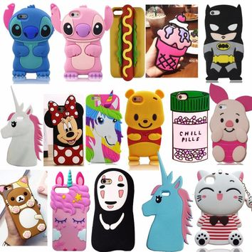 For iPhone 5 5s 5C SE 6 6s Plus 3D Soft Silicone Case Phone Back Cover Skin Shell For iPhone 7 7Plus For iPhone 8 8Plus Fundas