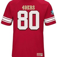 "Jerry Rice San Francisco 49ers Majestic NFL Men's ""HOF Hashmark 3"" Jersey Shirt"