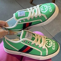 GG Tennis 1977 Embroidered breathable casual sports shoes sneakers Green