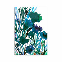 """Ebi Emporium """"Petal For Your Thoughts Teal"""" Turquoise Green Aluminum Artistic Magnet"""