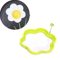 Silicone Flower Shape Omelette Mould Ring Fried Egg Shaper Cooking Kitchen Tool