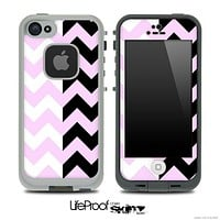 Two Toned Chevron Pattern Light Pink Skin for the iPhone 5 or 4/4s LifeProof Case