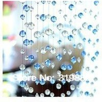 On sale!!! Wholesale Blue enchantress crystal bead curtain curtain partition finished