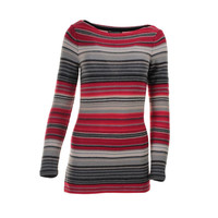 Lauren Ralph Lauren Womens Crochet Striped Tunic Sweater