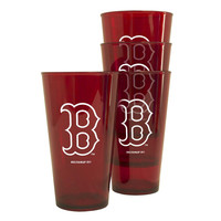 Boelter Plastic Pint Cups 4-Pack - Boston Red Sox