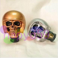 free ship devil knight car gear head car gear knob metal car MT AT gear shift knob universal car personality modification gear stick