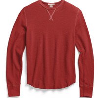 Slub Cotton Thermal in Faded Red