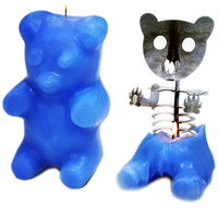 """Gummi Bear"" Skeleton Candle (Blue)"