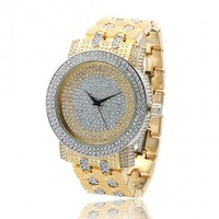 Silver and Gold Iced Out Men's CZ Watch