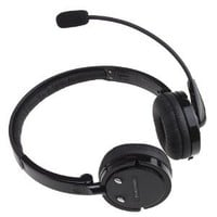 AGPtek® 2 in 1 Stereo Handsfree Headset Boom Mic Noise Canceling Wireless Bluetooth Headphone For Cellphones iPhone 4S iPad PC PS3 Skype