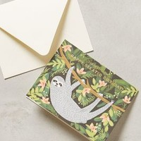 Slow Sloth Belated Birthday Card by Rifle Paper Co. Black Motif One Size House & Home