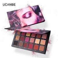 UCANBE Brand 18 Colors Eye Shadow Makeup Palette Matte Shimmer Velvet Pigmented Twilight And Dusk Eyeshadow Powder Cosmetics Set