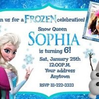 FROZEN Birthday party invitations personalized custom
