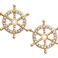 Nautical Collection Stirring Wheel Earrings