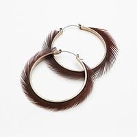 Freida Feather Wrapped Hoops