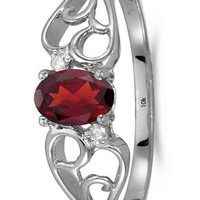 CERTIFIED 0.49 ctw 10k White Gold Solitaire Oval Gemstone & Diamond Engagement Ring