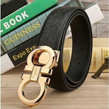 FERRAGAMO BELTS MEN WOMEN 100% REAL LEATHER BELT