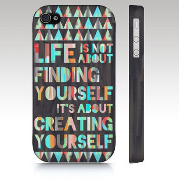 Iphone case, iPhone 5 case, iPhone 4 case, iPhone 4s case, typography art, inspirational quote, colorful text, art for your phone
