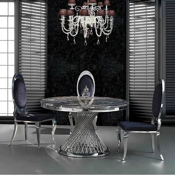 Exclusive Modern Designed Marble Top Dining Table Set
