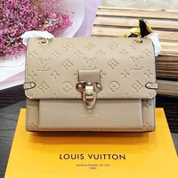 LV Louis Vuitton Trending Popular Women Leather Handbag Satchel Crossbody Shoulder Bag