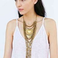 Svetlana Dripping Gold Necklace- Gold One