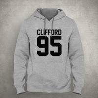Clifford 95 - For fangirl & fanboy - Gray/White Unisex Hoodie - HOODIE-075