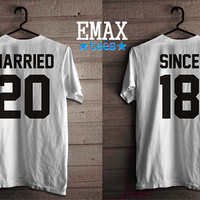 Married Since Shirts, Anniversary Tshirt, Married Matching tees, Couples Shirts, Together Since tshirts, Married Since Couple Set T-shirts