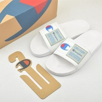 Champion Life Youth Slide Sandals White - Best Online Sale