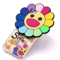 Happy laugh sunflower mobile phone case for iphone 5 5s SE 6 6s 6 plus 6s plus + Nice gift box 072301