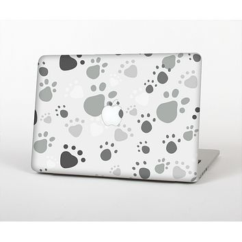 """The Gray & White Large Paw Prints Skin for the Apple MacBook Pro 13""""  (A1278)"""