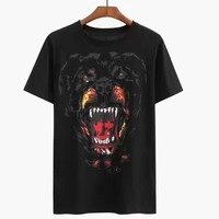 Givenchy black print T-Shirt Top Tee H-A-KSFZ